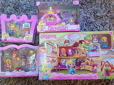 PINYPON TALES HOUSE PLAYSET, Fairy Tale Carriage and two figure packs