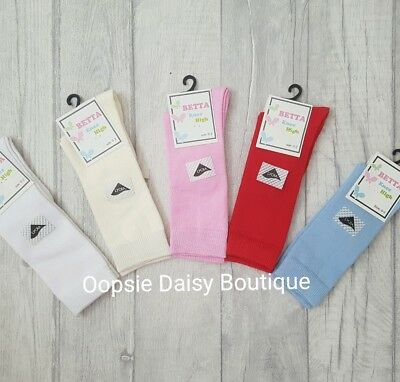 Baby Boys Girls Spanish Style Plain Knee High Socks  ☆