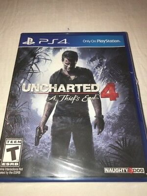 Uncharted 4 - A Thief's End Launch Edition- PS4 Game.                    - ( 9 )