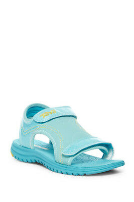 572759d215b042 NIB Teva Psyclone 6 Girl s Blue Turquoise Glitter Summer Sandals Shoes 1 2 3