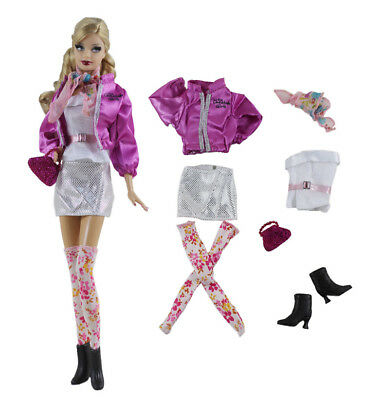 7in1 Set Fashion Casual Dress Suits Clothes For 11.5in.Doll Xmas Gifts C11