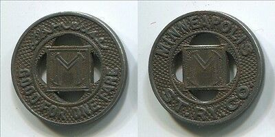 TT113a Minneapolis Streetcar Transit token St.Ry.Co. Strause signature magnetic