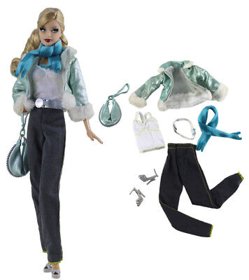 7in1 Set Fashion Casual Dress Suits Clothes For 11.5in.Doll Xmas Gifts C17