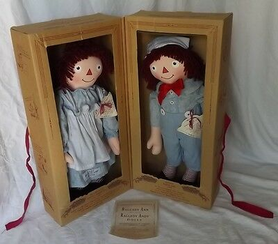 MIB Applause 1998 Limited Edition 30s Repro Exposition Raggedy Ann & Andy Dolls
