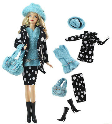 6in1 Set Fashion Casual Dress Suits Clothes For 11.5in.Doll Xmas Gifts C9