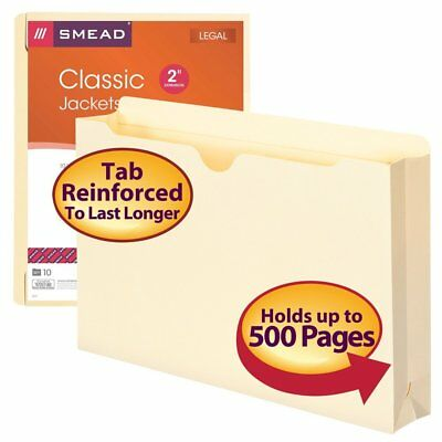 Smead File Jacket, Legal Size, Reinforced, 2 Inch Expansion, Pack Of 10 (76691)