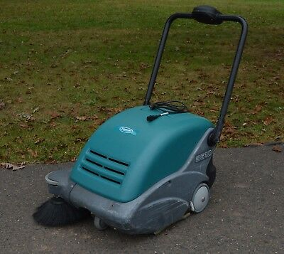 "Tennant Nobles 3610 24"" Walk Behind Battery Powered Sweeper WORKING NEW BATTERY!"