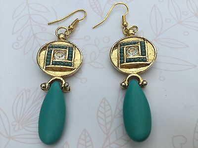 Egyptian Revival vintage style handmade beautiful gold Turquoise colour