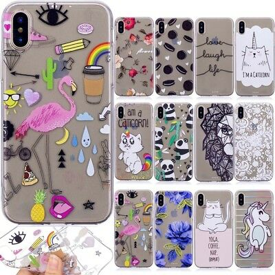 Cute Ultra Thin TPU Clear Pattern Silicone Gel Back Case Cover For Various Phone