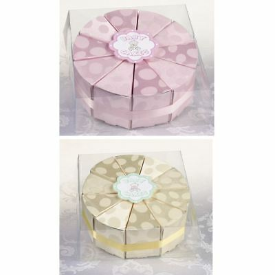 10 Baby Cake Slice Boxes Baptisms Christenings Confirmation Shower Favours Gifts