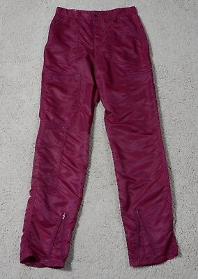 Vintage Authentic 80's Parachute Pants, Shiny, Tight & Awesome! Vi Enna Burgandy