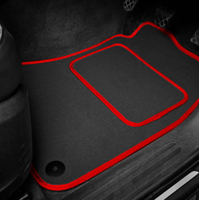 High Quality Car Floor Mats Set In Black/Red To Fit MG Midget 1275 (1966-1974)