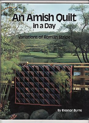 """AN AMISH QUILT IN A DAY""  44pp  by Eleanor Burn"