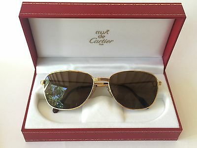 Vintage Cartier Courcelles Vendome Gold 57Mm Frame Sunglasses France