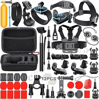 54-in-1 Kit de accesorios Deportes al aire libre Bundle para GoPro Hero Session
