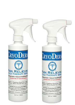 Cryoderm Cold Spray 16oz Pack of 2 - 32 oz total