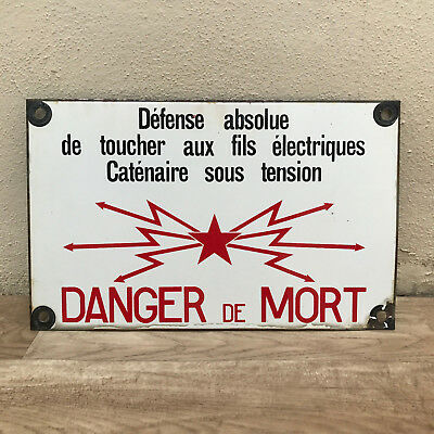 French Street Enamel Sign Plaque - DANGER DE MORT 3010171