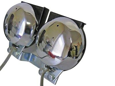 NEW Chrome 6 Volt Nikko Dual Note Universal Horn Chopper Bike Motorcycle
