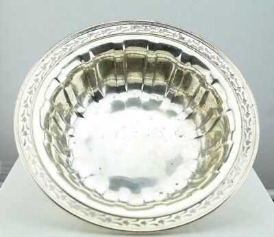 """Wallace Sterling Silver Reticulated Edge Fluted Bowl 10""""  C1570"""