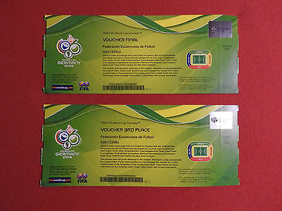 WM 2006 Spiel 64 + 63 Finale + Spiel Platz 3 FIFA World Cup Ticket +++ Voucher!