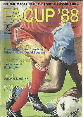 1988 LIVERPOOL v WIMBLEDON FA CUP FINAL Official Magazine RARE