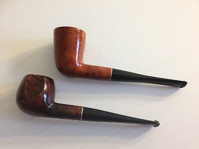 Lot of 2 Vintage Willard Ajustomatic Imported Briar Pipe Smoked Estate Pipes