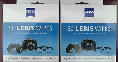 Zeiss Lens Cleaning Wipes Screen Cleaner Eyeglasses Sunglasses 100 count NEW