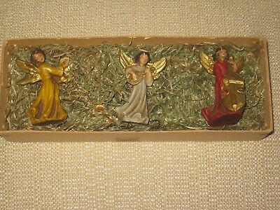 3 Angel Figures Ornaments Christmas Vintage  Made in Italy