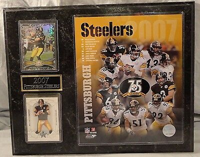 Pittsburgh Steelers NFL 2007 Wall Plaque Ben Roethlisberger 75th Anniversary