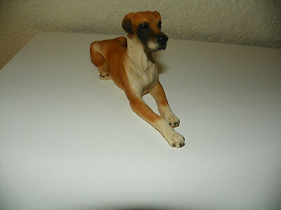 Great Dane Uncropped Dog  Collectable Figurine Statue Castagna Italy