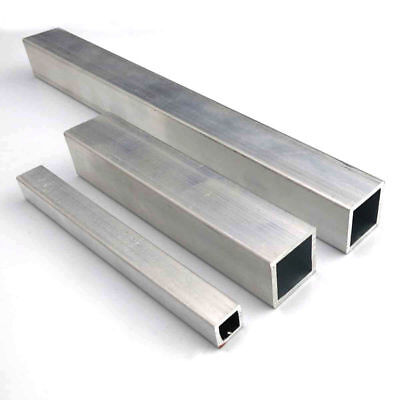 1x Aluminum Square Tube Metal Alloy Box Tubing Section T6063 Model DIY Pick Size