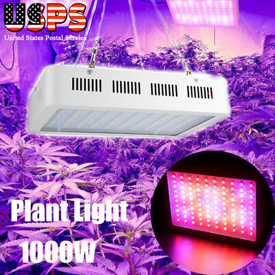 1000W 100pcs Watt LED Grow Light Lamp Plants Flower Oganic Growing Full Spectrum