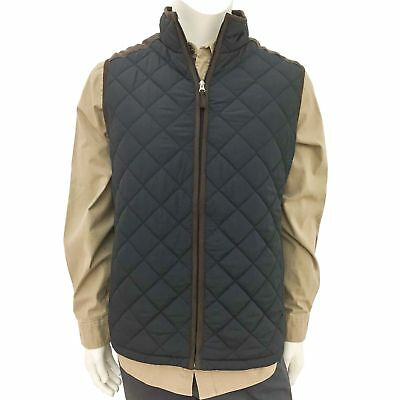 Coleman Men's Quilted Vest With Faux Suede Trim Color: Black,  Variety Size New