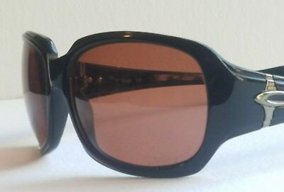 Oakley Script Women's Sunglasses Black W/Rose Lens USA