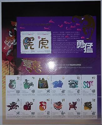 Christmas Island Australia 2010 Year of the Tiger Sheetlet MNH 14 stamps