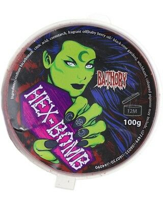 Hex Bomb Vegan Cruelty-Free Gothic Goth Bathory Blood Bath Bomb