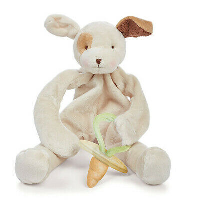 "Bunnies by the Bay Silly Buddy Tan Puppy Dummy Holder Comforter 10""/25cm NEW"