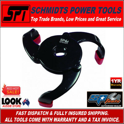 "SP TOOLS SP64001 AUTOMOTIVE OIL FILTER WRENCH - REMOVER 3/8"" DRIVE 3 JAW 58-95mm"