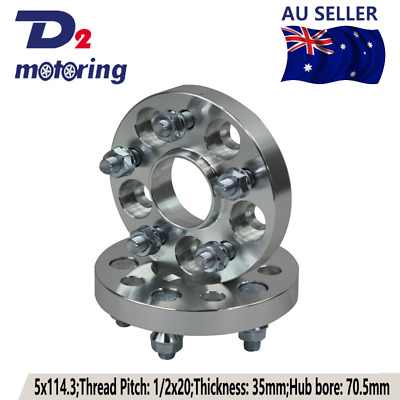 2PCS WHEEL SPACERS FOR Ford Falcon 35mm 5x114.3 Onward 5LUG HUBCENTRIC