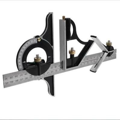 STEEL MACHINIST COMBINATION TRY TRI SQUARE RULER MEASURING ANGLE TOOL RULE  24in
