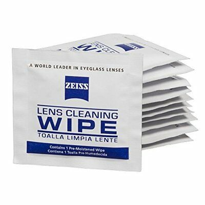 Zeiss Pre-Moistened Lens Cleaning Wipes - Cleans Bacteria, Germs  (100 Count)