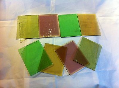 NINE (9) PIECES of Stained glass (reclaimed)