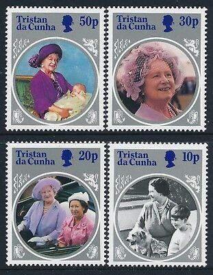 1985 Tristan Da Cunha Life & Times Of The Queen Mother Set Of 4 Fine Mint Mnh