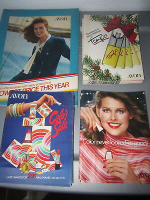 Lot Of 4 Vintage Avon Catalogs 2 From 1978 2 From 1979 Models Of Era Reference