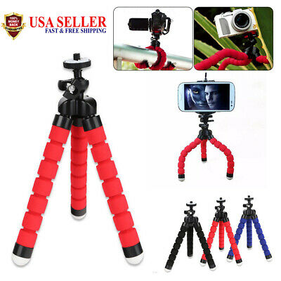Mini Flexible Tripod Stand Mount Phone Holder Clip For iPhone X S8 S7 S6 plus