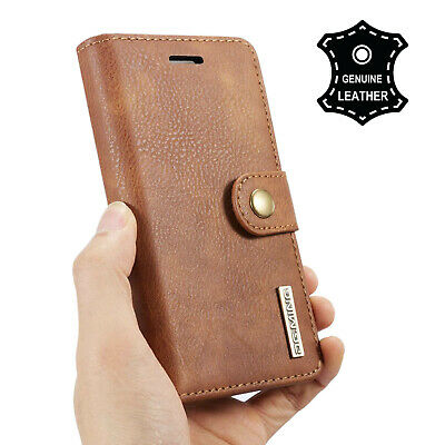 Luxury Genuine REAL Leather Flip Stand RFID Wallet Case for iPhone 8 7 6S Plus