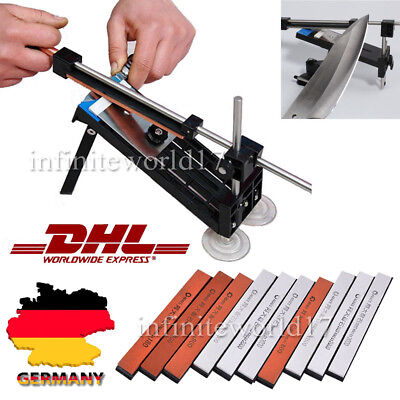 Küche Messerschleifer Messerschärfer Fixed-Winkel Sharpener 10 Schleifsteine DHL