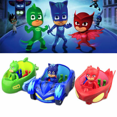 2017 Car Action Figure Catboy Owlette Glider Gekko Mobile  PJ Masks Toys+Box