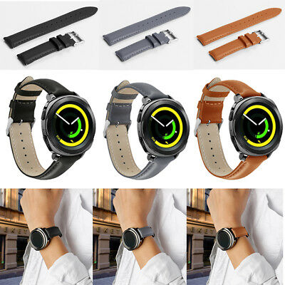 Newest Genuine Leather Watch Band Straps Wristband for Samsung Gear Sport Watch