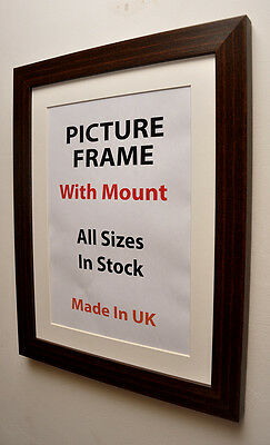 Mahogany Brown Picture With Frame Mount, Choice of Ivory, Black or White Mount
